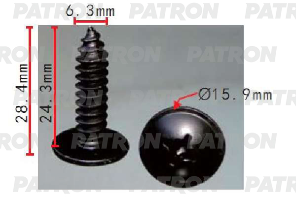 Клипса пластмассовая P37-1547 PATRON