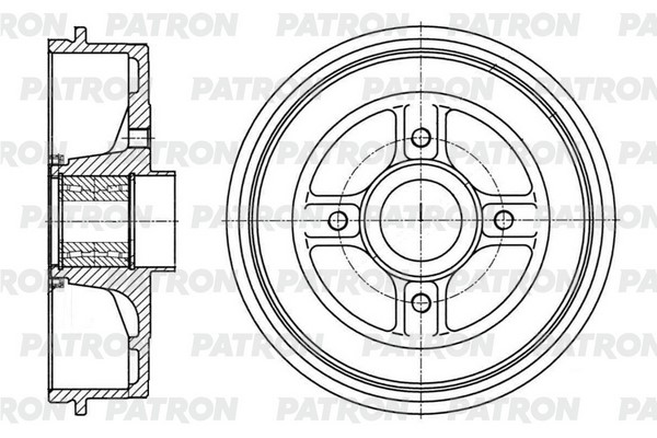 Барабан тормозной PDR1005 PATRON
