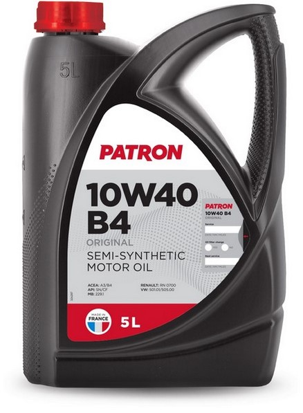 Масло моторное полусинтетическое 10W40 B4 5L ORIGINAL PATRON