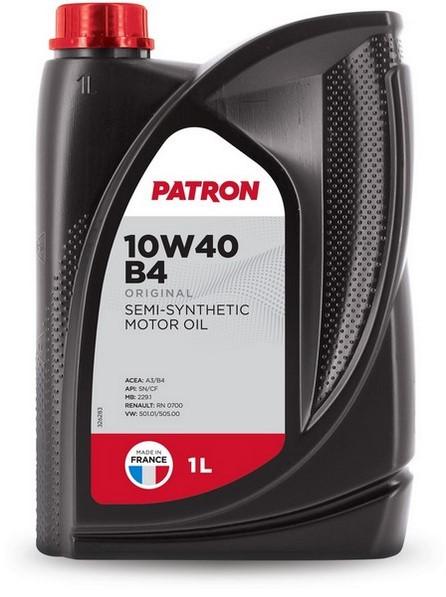 Масло моторное полусинтетическое 10W40 B4 1L ORIGINAL PATRON