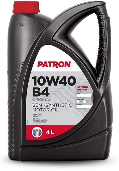 Масло моторное полусинтетическое 10W40 B4 4L ORIGINAL PATRON