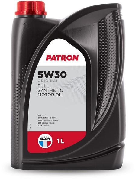 Масло моторное синтетическое 5W30 1L ORIGINAL PATRON
