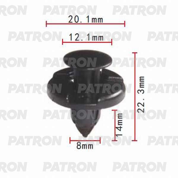 Клипса пластмассовая P37-0002A PATRON
