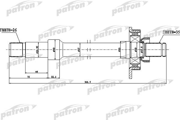 Вал приводной PDS0537 PATRON